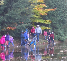 Image of Students by a Pond