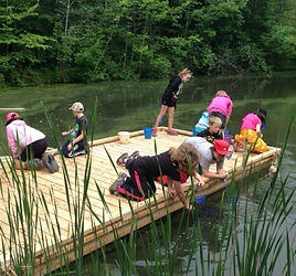 Image of Students on a Dock