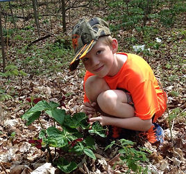 Image of Student with Trilliums