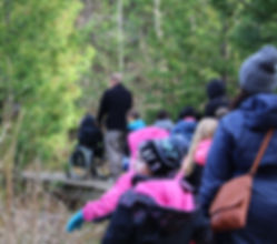 Image of Students on a Trail