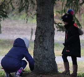 Image of Students by Tree