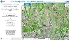 Image of CLOCA Regulation Area Search Tool