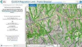 Image of CLOCA Regulation Area Search Tool