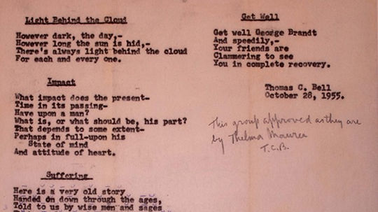 From the Archives: Poems of the Bell Family