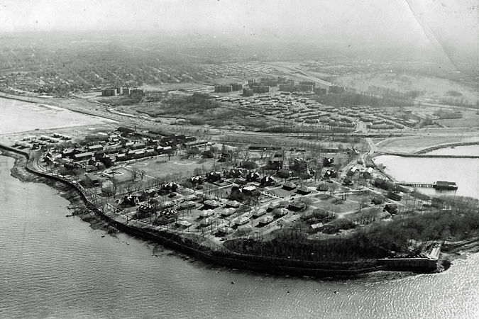 Fort Totten, looking east - 1957