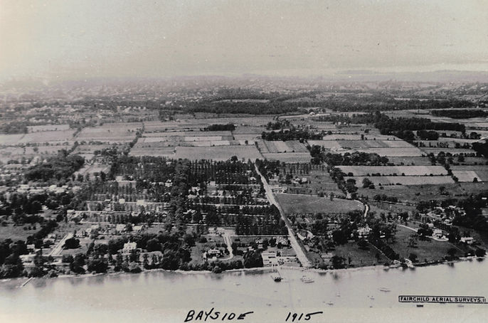 1915 aerial view of Bayside, New York
