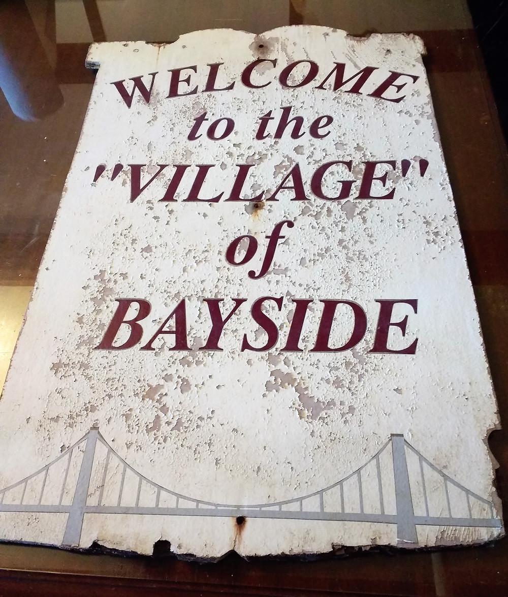 Vintage Bayside sign - back