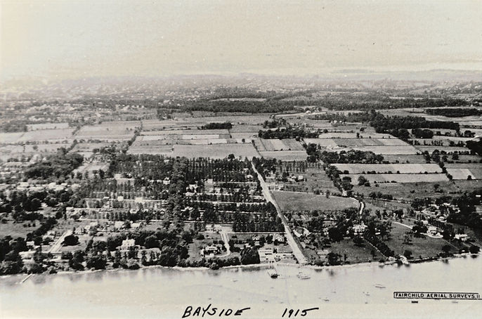 1915 aerial view of Bayside, NY