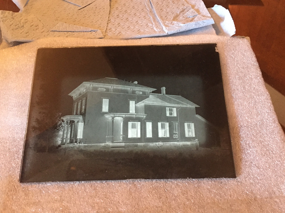 Donated glass plate negative