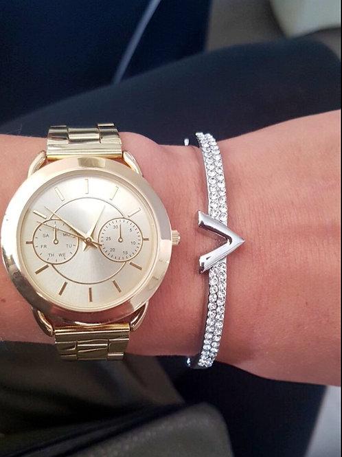 V design Ladies Studded Bracelet