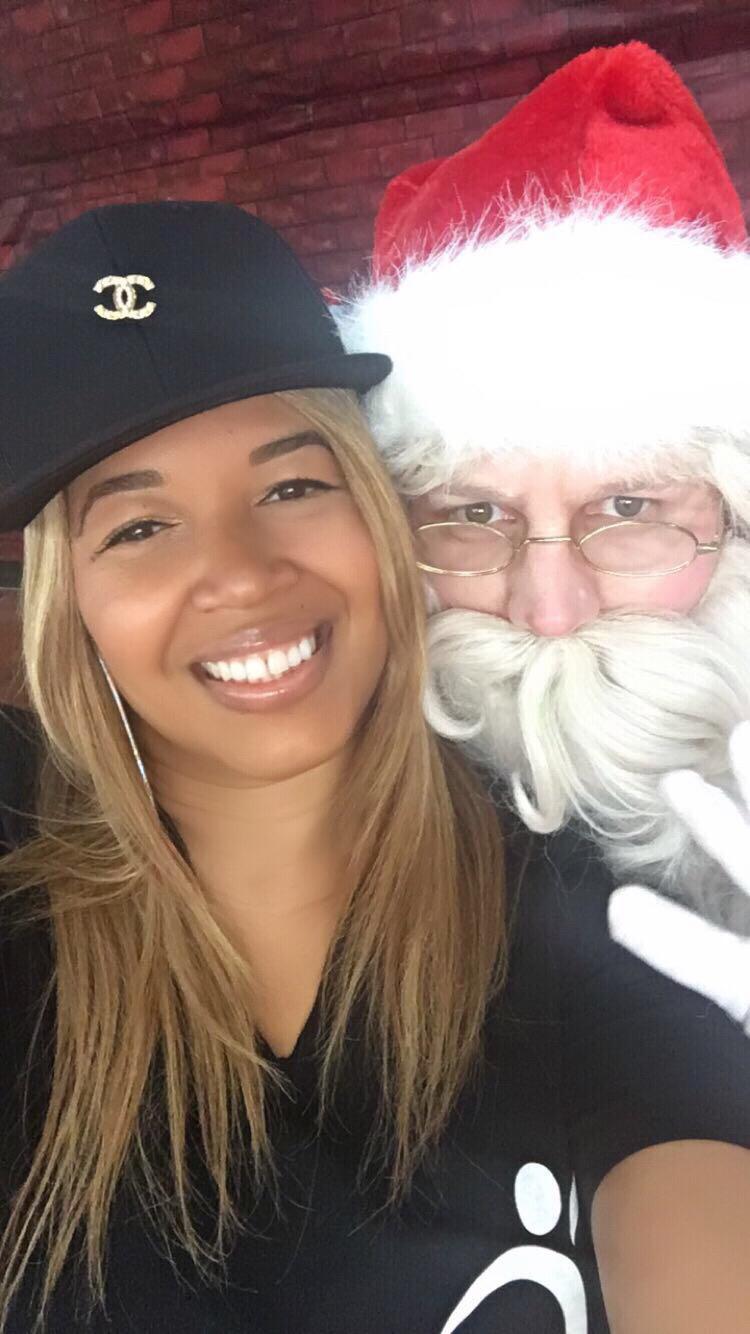 Cheyenne Martin and Santa