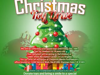 Cheyenne Martin Foundation Christmas Toy Drive