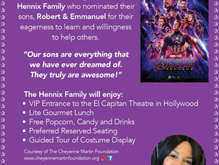 The Winner of the VIP Tickets for the screening of the opening weekend of the Avengers Endgame....