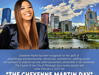 "Council of Pittsburgh, PA declares February 2nd, 2021 ""Cheyenne Martin Day"""