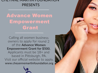 Round 2 of the Advance Women Empowerment Grant.