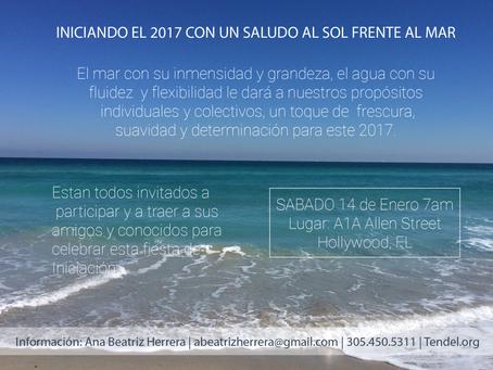 Iniciando el 2017 con un Saludo al Sol Frente al Mar