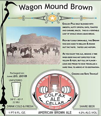 WagonMoundBrown 22 oz 4.5 x 5 in with li
