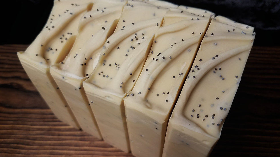 Lemon Poppy Seed Exfoliating Artisan Soap