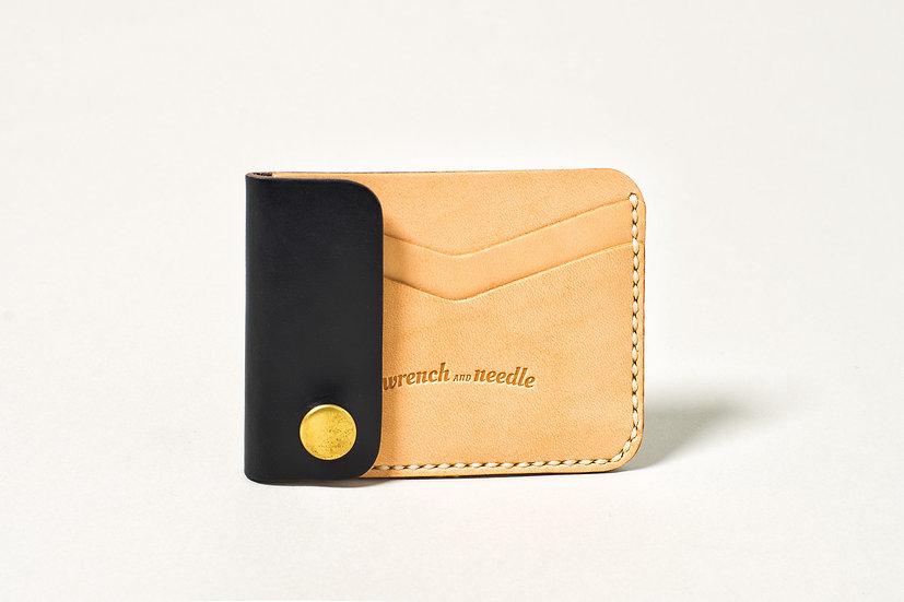Horween card wallet black