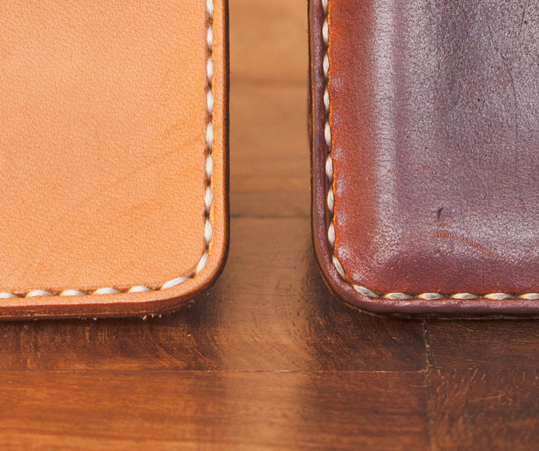 Vegetable tanned leather. How it ages (Patina).