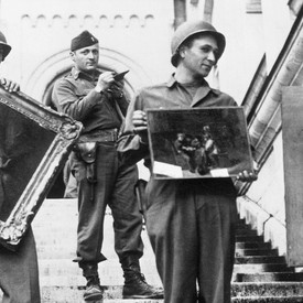 The paintings behind the Monuments Men cover