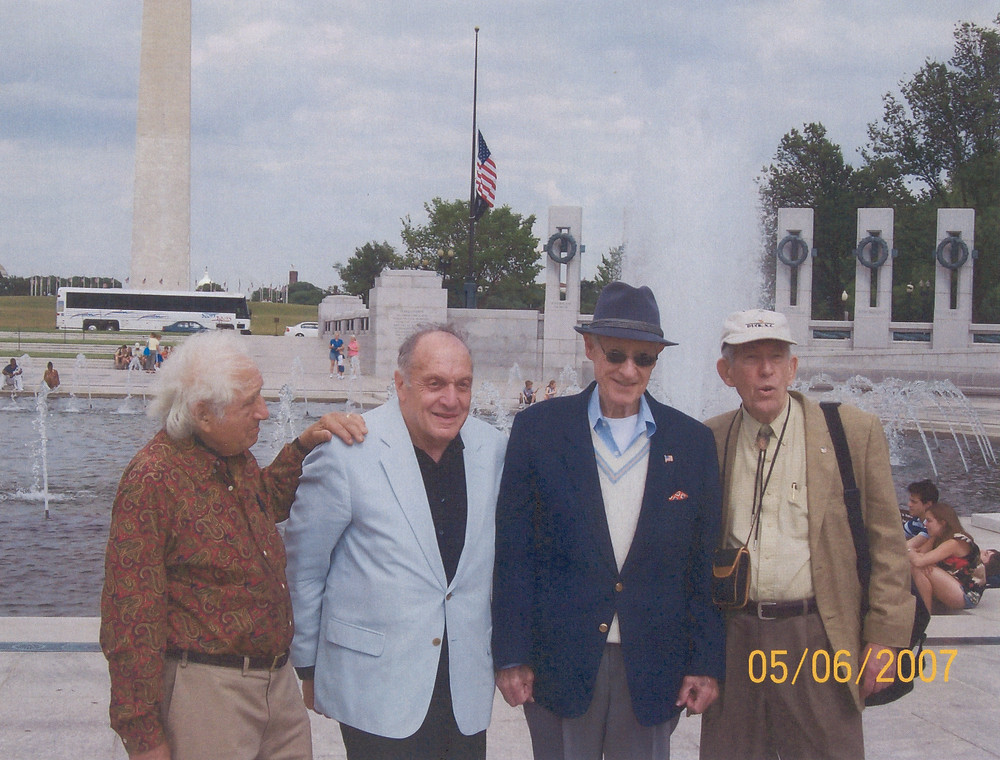 (left to right) Monuments Man Bernard Taper, Monuments Man Harry Ettlinger, A. Ray Edsel and Monuments Man Horace Apgar.