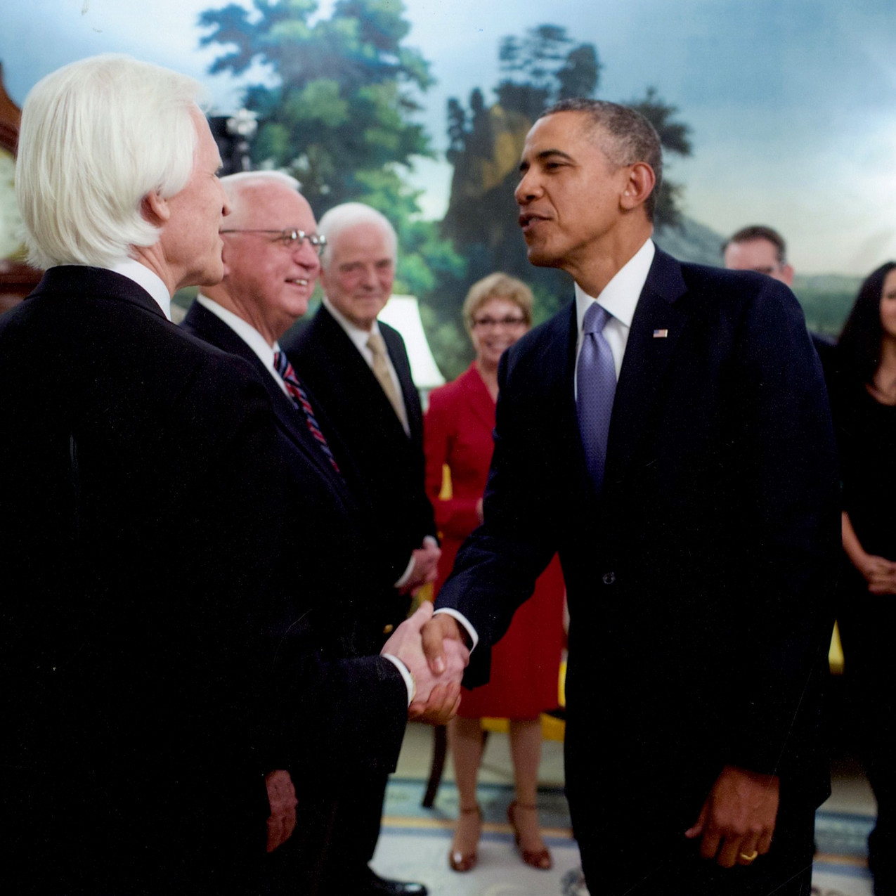 With President Obama