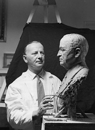 Tregor with Truman bust.png