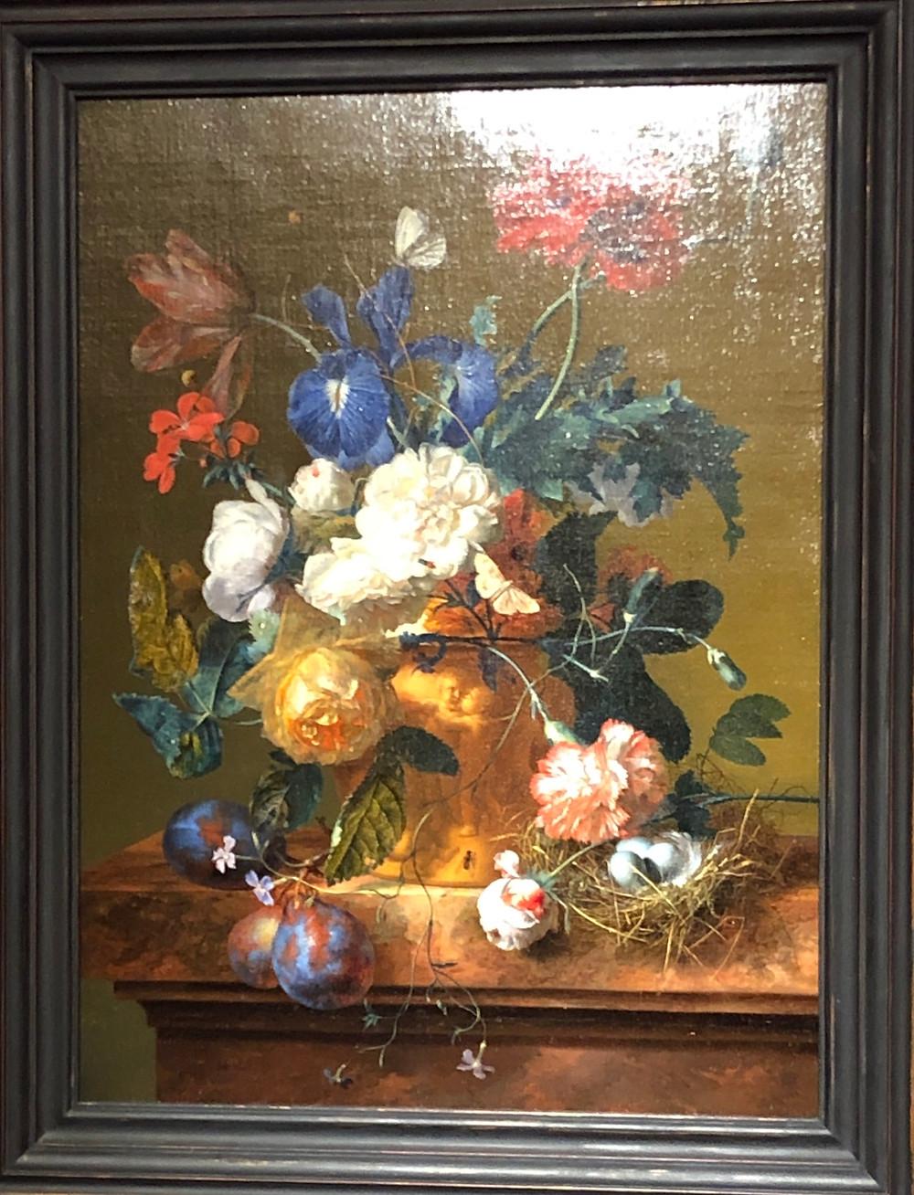 Jan van Huysum (1682-1749); Vase of Flowers; oil on canvas; 18.50 in (47.00 cm) x 13.77 in (35.00 cm).