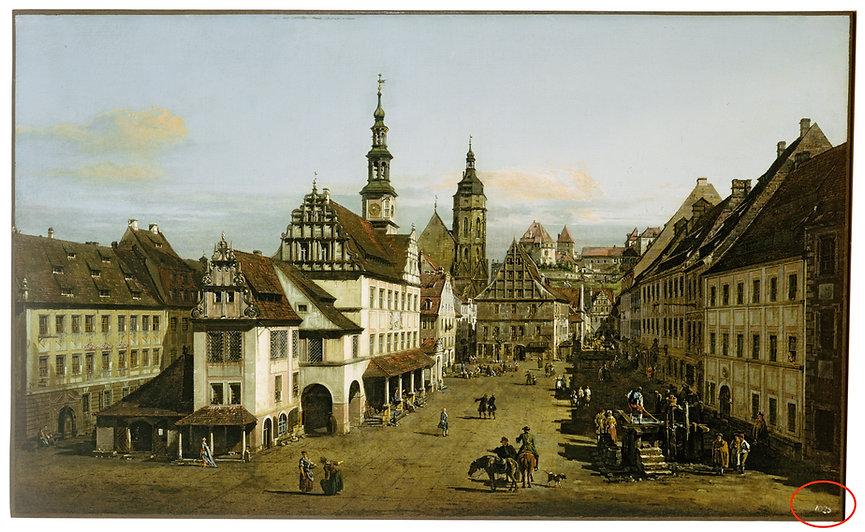Bernardo Bellotto, The Marketplace at Pirna (c.1764)