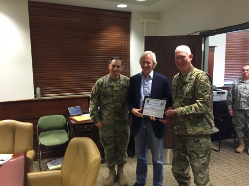 With Brigadier General Alan L. Stolte, Commanding General of the 352nd, and Command Sergeant Major Earl G. Rocca