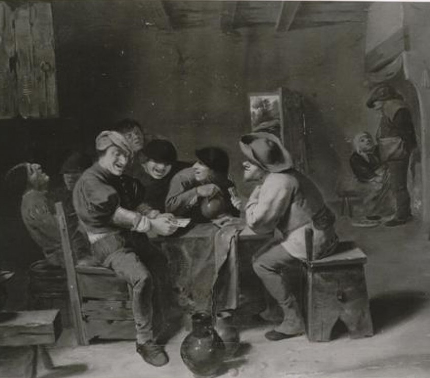 """Adriaen Brouwer's """"Farmers Playing Cards in a Tavern"""""""