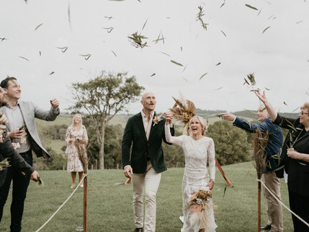 VINTAGE BOHO GARDEN WEDDING, BYRON BAY