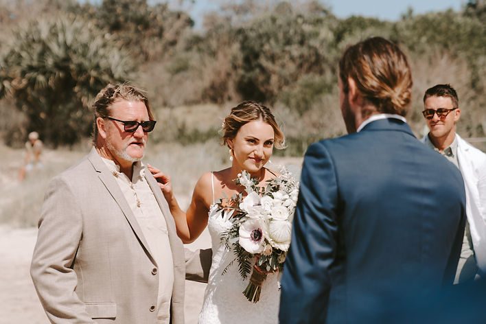 Barefoot in Byron Beach Wedding Konrad B