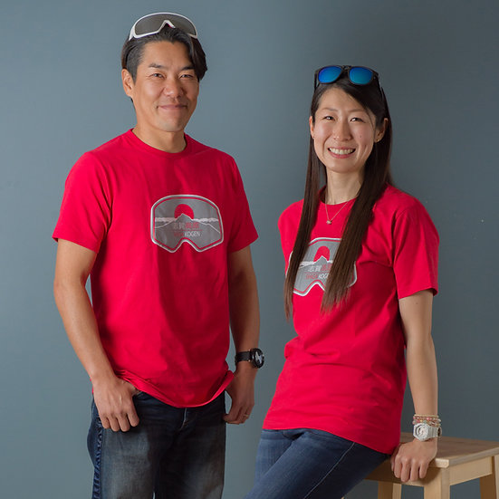 Shiga Kogen Super Soft T-Shirts Adult Red