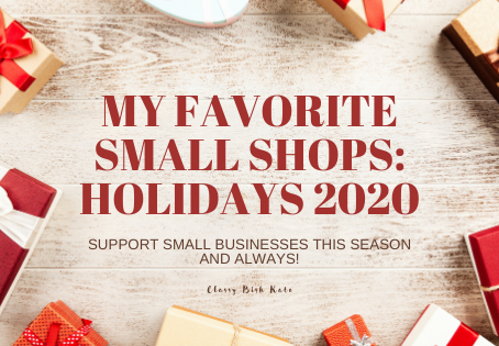 My Favorite Small Shops Holidays 2020
