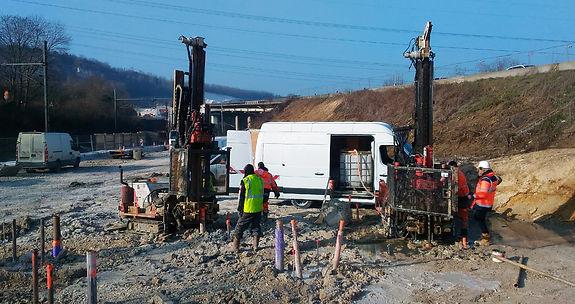 contrôle extérieur chantier viaduc de Guerville A13 Rincent Laboratoires