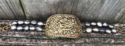 Vintage Buckle Belt Bracelet