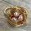 Thumbnail: Pale Pink Bird Nest Ring - Size 8