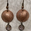 Thumbnail: Copper Floral Earrings with Vintage Faceted Beads