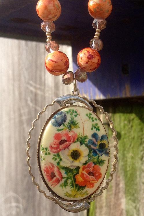 Autumn Floral Necklace