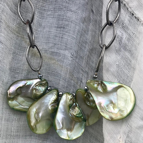 Green Abalone Necklace