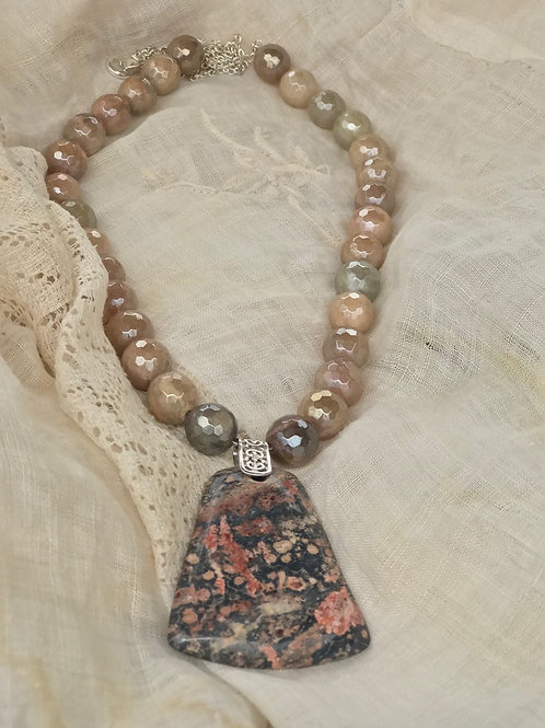 Leopard Jasper with Plated Moonstone