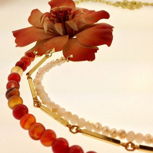 Bohemian Flower Necklace