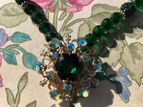 Repuposed Vintage Brooch Necklace