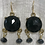 Thumbnail: Black Crystal Earrings