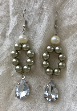 Upcycled Vintage Faux Pearl Earrings