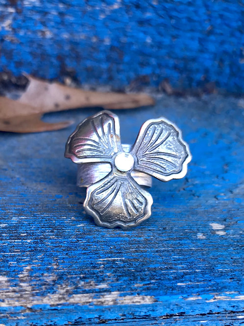 Upcycled Flower Ring