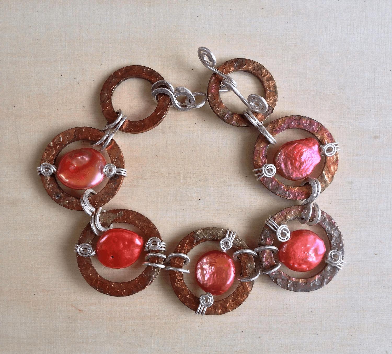 Copper & Sterling Silver Bracelet