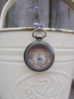 Small Pocketwatch Collage Necklace1